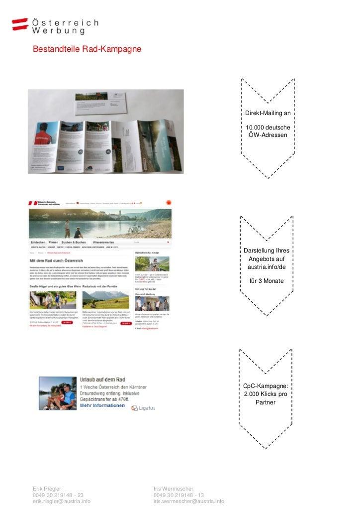Bestandteile Rad-Kampagne                                                           Direkt-Mailing an                     ...