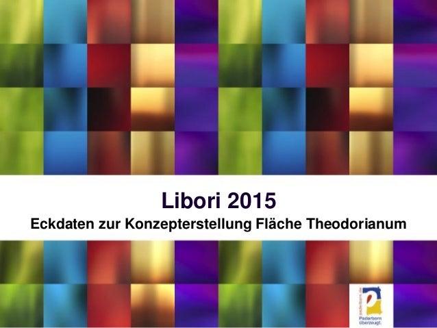 Libori 2015 Eckdaten zur Konzepterstellung Fläche Theodorianum