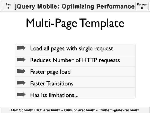 jquerymobile template - jquery mobile optimizing perfromance