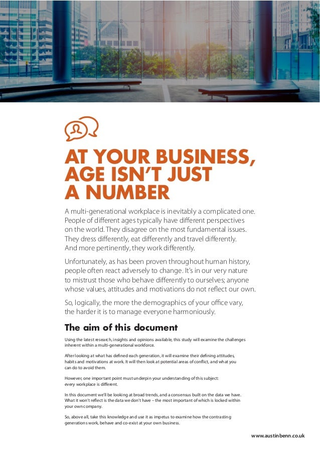 A multi-generational workplace is inevitably a complicated one. People of different ages typically have different perspectiv...