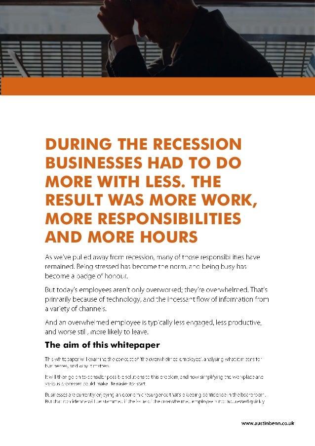 Austin Benn - Overwhelmed Employee White Paper Slide 2