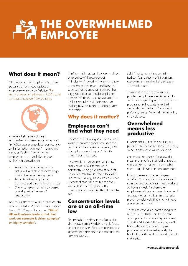 Austin Benn - Overwhelmed Employee White Paper Slide 3