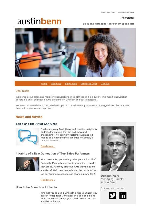 Sendtoafriend|Viewinabrowser HomeAboutUsSalesJobsMarketingJobsContact Newsletter Sales...