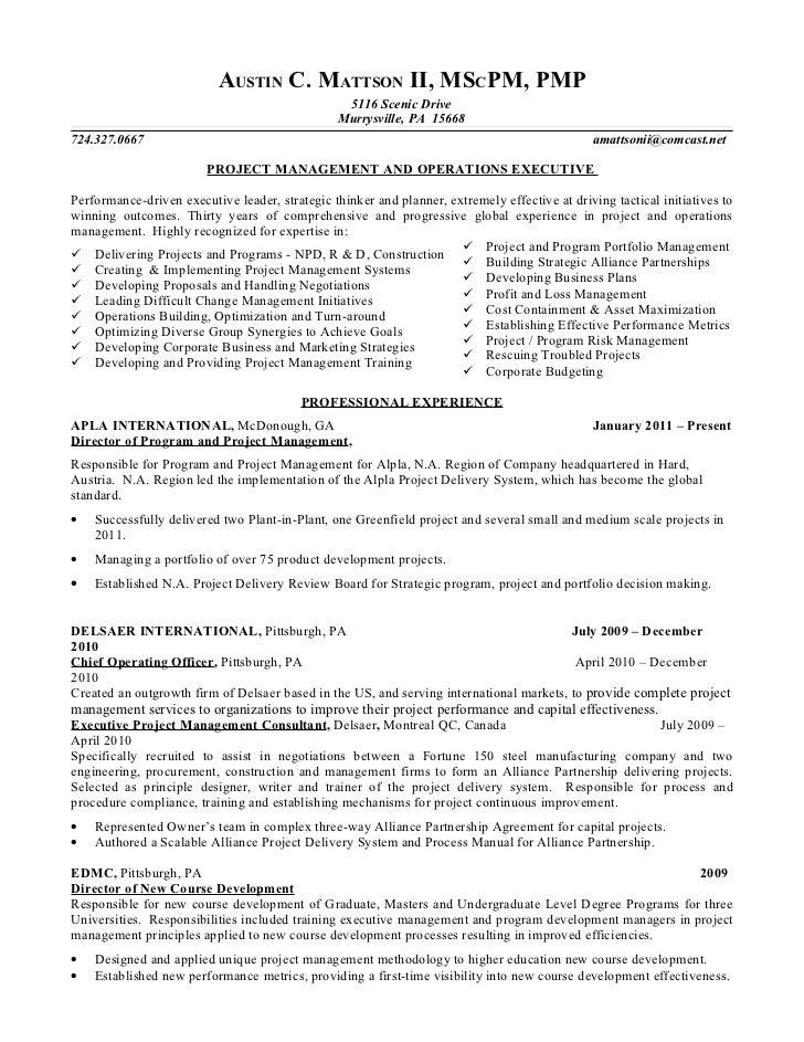 Austin C Mattson II Resume Mar 2012