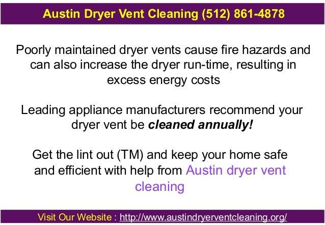 Austin dryer vent cleaning Slide 3