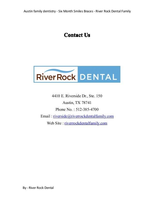 Austin family dentistry - Six Month Smiles Braces - River Rock Dental Family By - River Rock Dental ContactContactContactC...