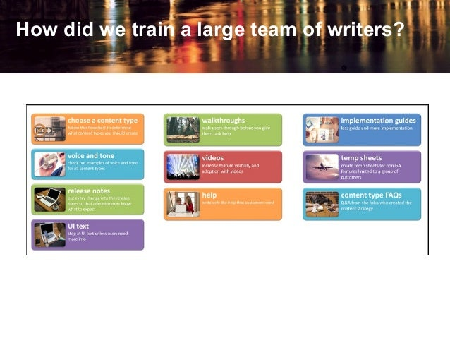 How did we train a large team of writers?