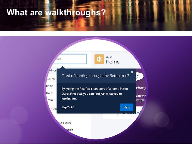 What are walkthroughs?