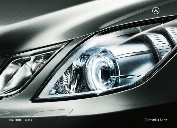 Austin mercedes benz e class brochure 2010 for Mercedes benz e class brochure