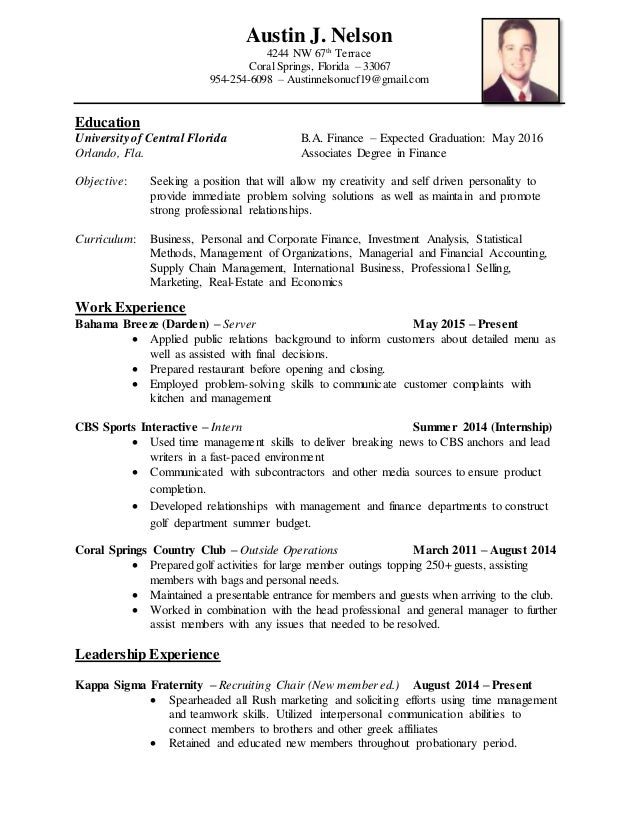 Awesome Austin Management Resume Pictures - Best Resume Examples by ...