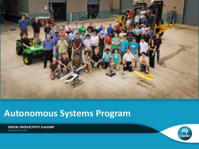 DIGITAL PRODUCTIVITY FLAGSHIP Autonomous Systems Program