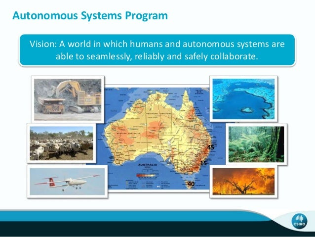 Vision: A world in which humans and autonomous systems are able to seamlessly, reliably and safely collaborate. Autonomous...