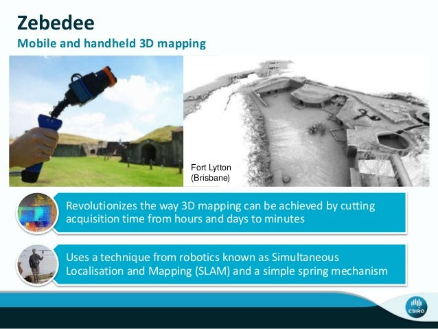 Zebedee Mobile and handheld 3D mapping Revolutionizes the way 3D mapping can be achieved by cutting acquisition time from ...