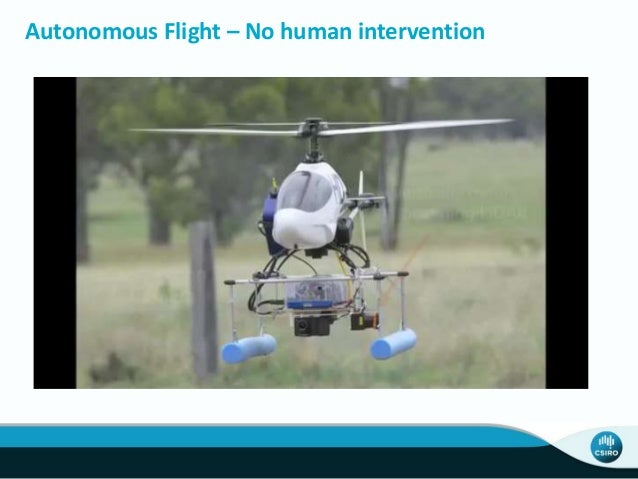 Autonomous Flight – No human intervention