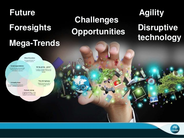 Future Foresights Mega-Trends Challenges Opportunities Agility Disruptive technology