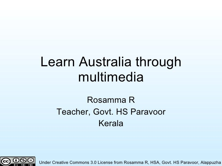 Learn Australia through multimedia