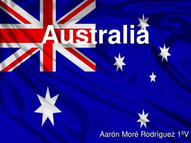 Australia    Aarón Moré Rodríguez 1ºV