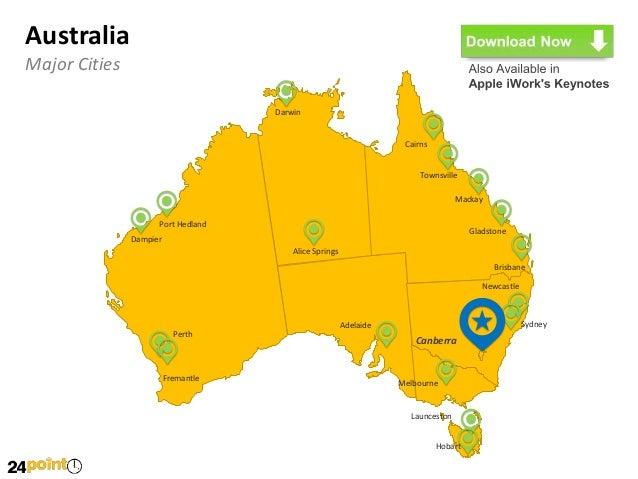 Editable PowerPoint Slides of Australia Map