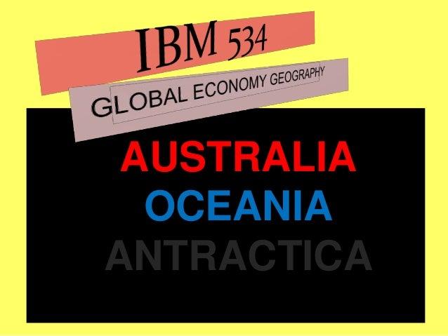 AUSTRALIA OCEANIA ANTRACTICA