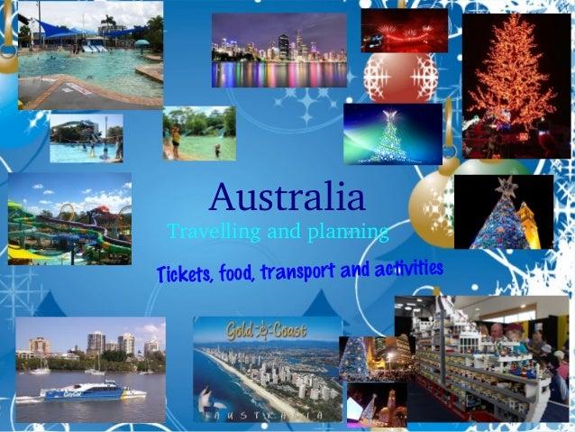 Australia  Travellingandplanning  s, food, transport and activities Ticket