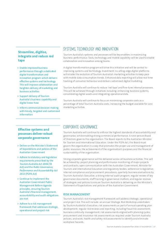 tourism plan
