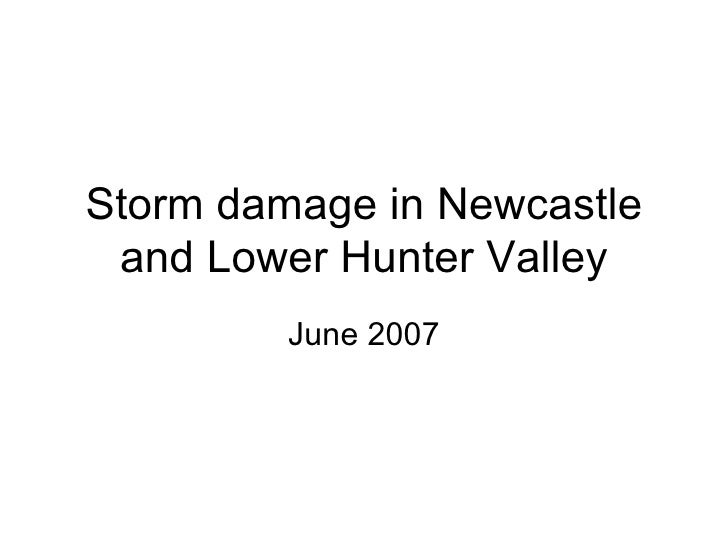 Storm damage in Newcastle and Lower Hunter Valley June 2007