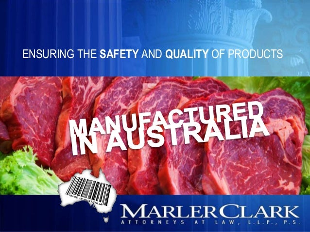 ENSURING THE SAFETY AND QUALITY OF PRODUCTS