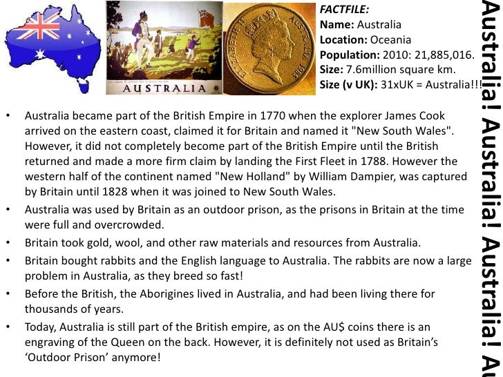Basic Facts About Australia!