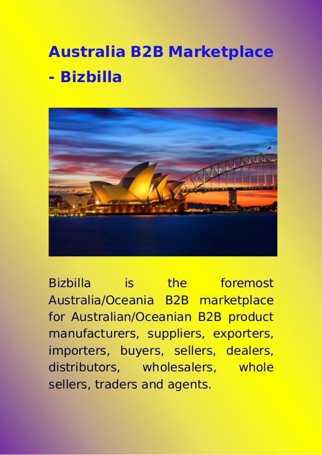 Australia B2B Marketplace - Bizbilla