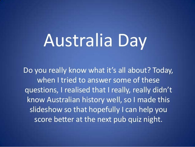 What is date in Australia