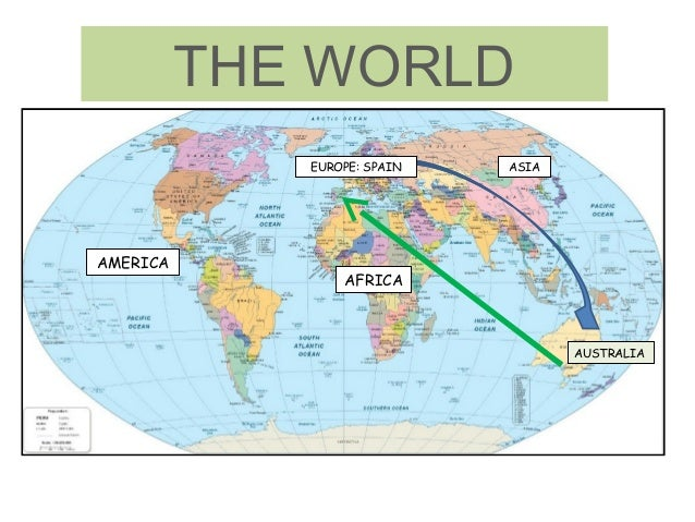 THE WORLD EUROPE: SPAIN  AMERICA  ASIA  AFRICA  AUSTRALIA