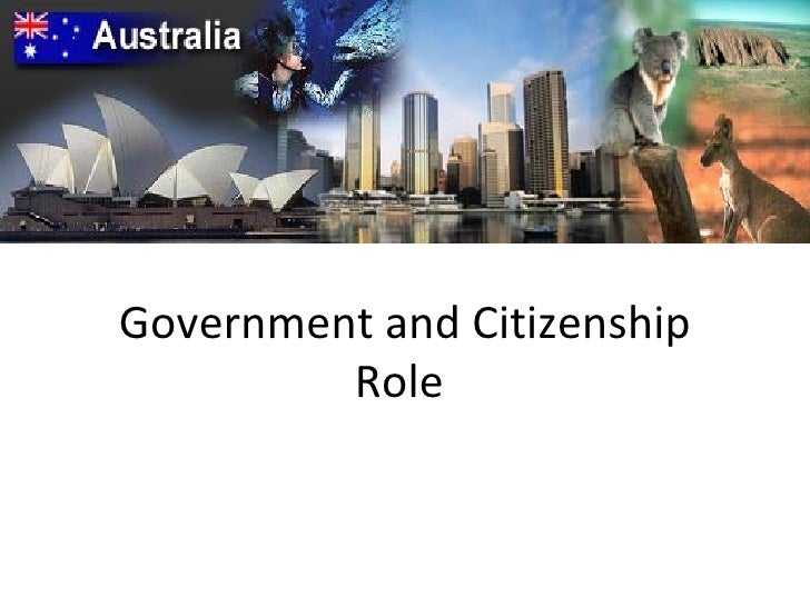 Government and Citizenship Role