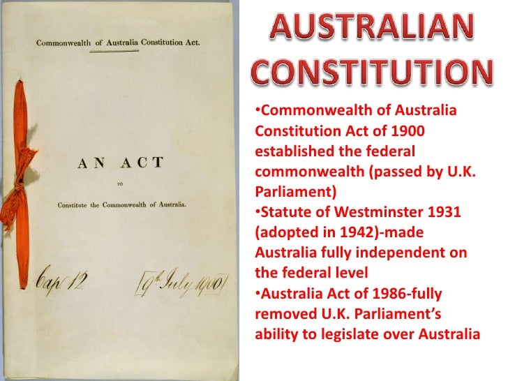 the australian constitution limits the exercise The constitution of australia is the supreme law under which the government of  the  concerning the limits of the powers of the commonwealth or states could  not  executive powers are exercised by the governor-general, advised by the.