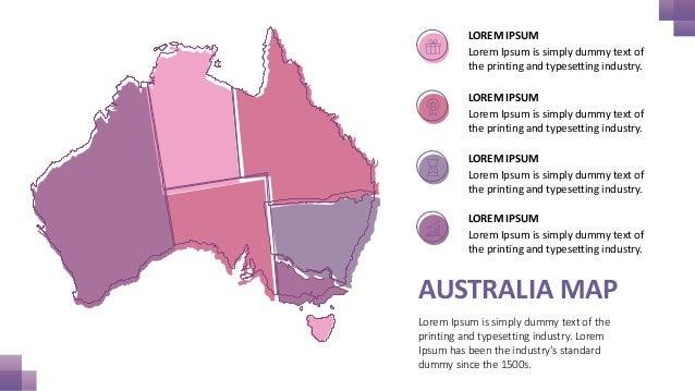 Australia maps powerpoint template free download australia toneelgroepblik Image collections