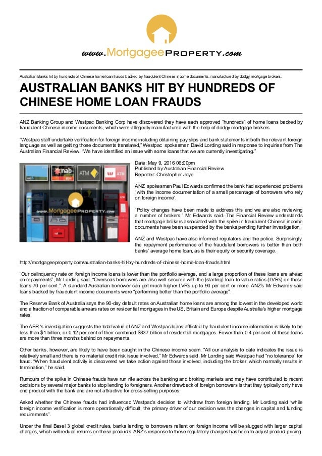 Australian banks hit by hundreds of Chinese home loan frauds on mobile police, mobile infrastructure, mobile loans, mobile real estate, mobile operations, mobile beauty, mobile housing,