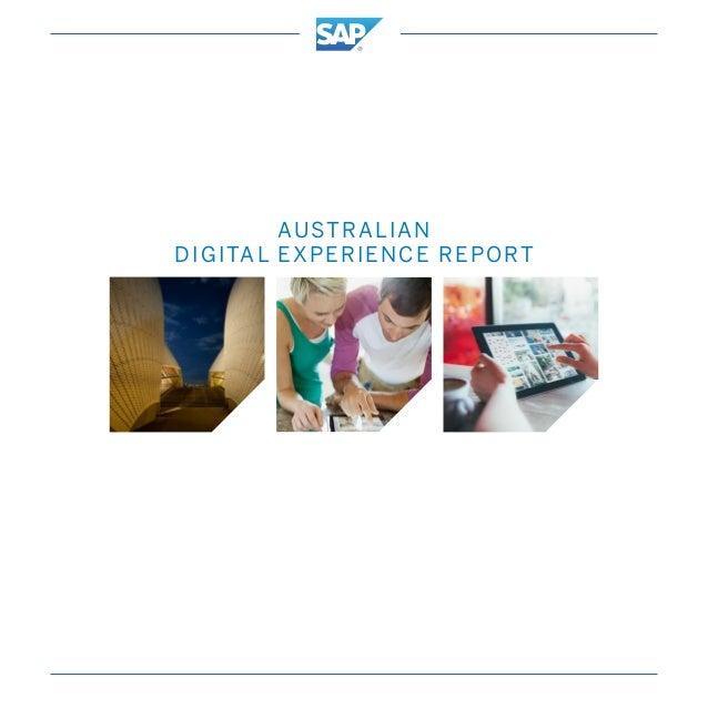 AUSTRALIAN DIGITAL EXPERIENCE REPORT