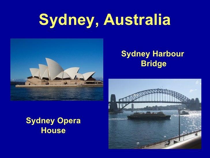sydney australia sydney opera house sydney harbour bridge