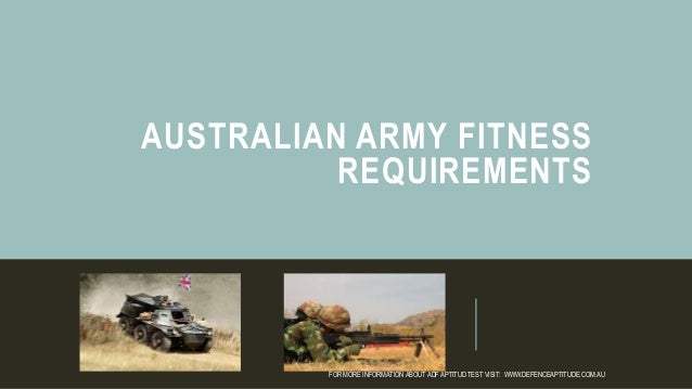 Australian army fitness requirements