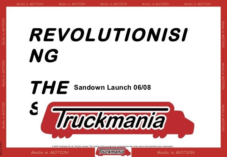 REVOLUTIONISING  THE STREETSCAPE Sandown Launch 06/08