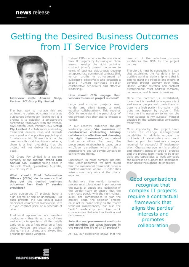 Interview with: Abaran Deep, Partner, PCI Group Pty Limited The best way to manage risk and achieve the desired outcomes i...