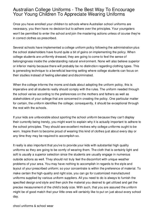 Essays on school dress code Coursework Example - followthesalary com
