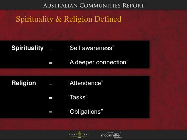 an analysis of the role of religion and spirituality in australia This paper summarizes the views of australian health care chaplains concerning their role and involvement in patient/family health care treatment decisions.