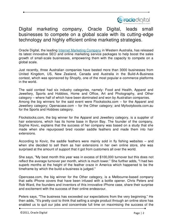 Australian Companies Dominate Global Online Marketing Contest