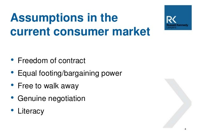 australian consumer law (1) a term of a consumer contract is unfair if: (a) it would cause a significant  imbalance in the parties' rights and obligations arising under the.