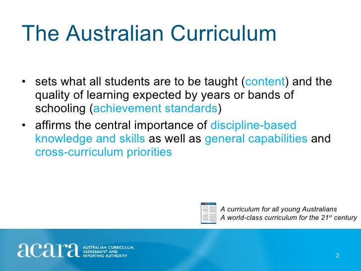 australian curriculum key messages presentation dec 2010