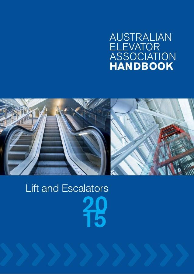 Australian elevator association hand book