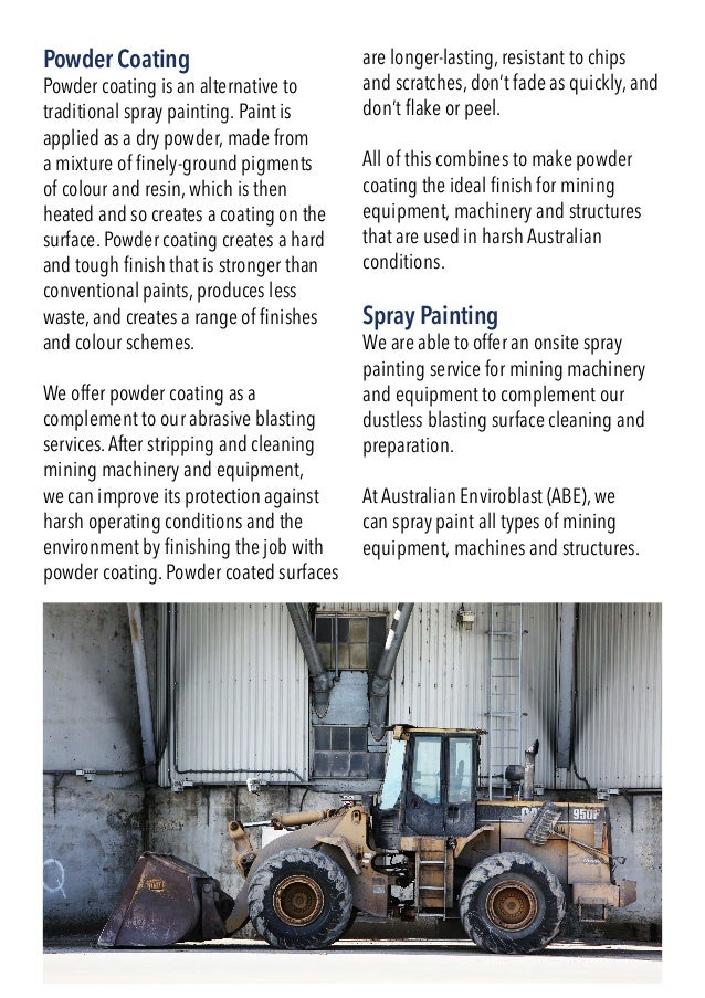 A4 Information Brochure for Australian Enviroblast