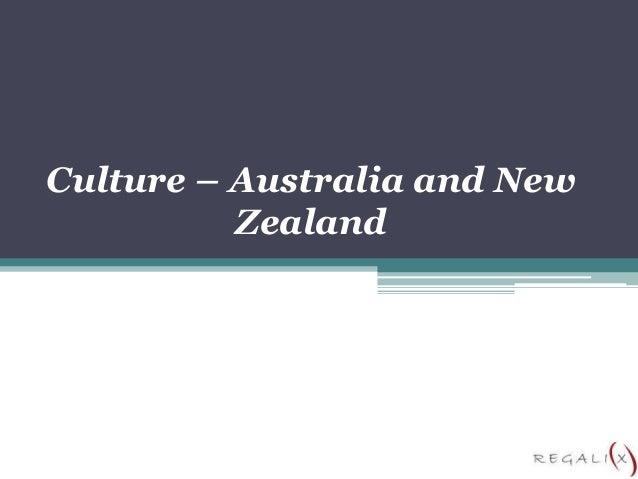 Culture – Australia and New Zealand