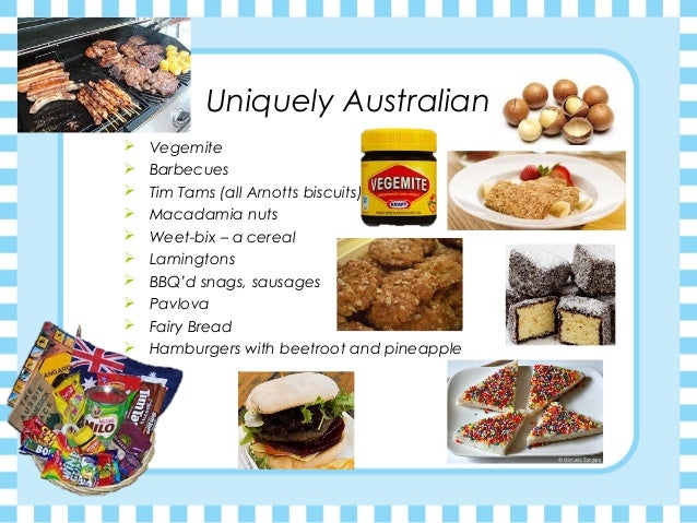 Australian foods a for Australian food cuisine