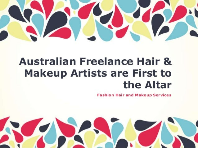 Australian Freelance Hair & Makeup Artists are First to the Altar Fashion Hair and Makeup Services